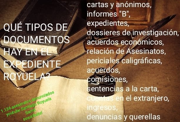 Los documentos del Expediente del Fiscal Mena Alvarez